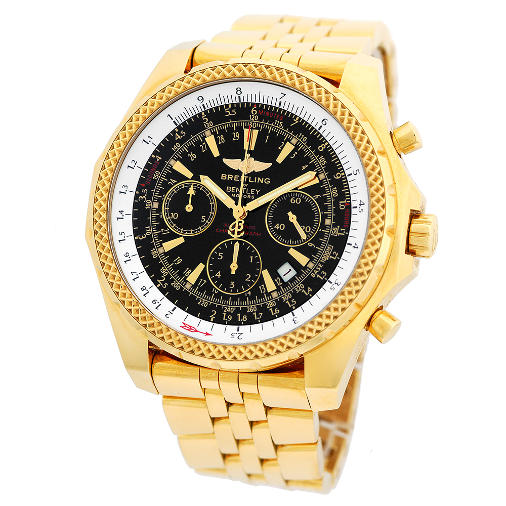 BREITLING 18K Yellow Gold 48mm Bentley Motors Chronograph
